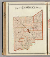 Map of Jennings County. (Published by Baskin, Forster & Co. Lakeside Building Chicago, 1876. Engraved & Printed by Chas. Shober & Co. Props. of Chicago Lithographing Co.)