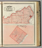 Map of Ohio County. (with) City of Rising Sun, Ohio Co. (Published by Baskin, Forster & Co. Lakeside Building Chicago, 1876. Engraved & Printed by Chas. Shober & Co. Props. of Chicago Lithographing Co.)