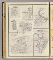 Plan of Vevay, Switzerland Co. (with) Patriot, Versailles, Osgood, New Marion, South Milan, Brooklyn, Middleton, Batesville.