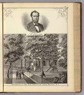 Residence of Dr. T.G. Chattle, Long Branch, N.J. and portrait of T.G. Chattle.