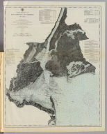 New York Bay and Harbor, New York. From a trigonometrical survey ... Survey of the Coast of the United States. Triangulation by J. Ferguson and E. Blunt, assistants. Topography by H.L. Whiting, S.A. Gilbert, A.M. Harrison, assts., F.W. Dorr, C. Rockwell and J. Mechan sub-assts. Hydrography by the parties under the command of Lieuts. Comdg. R. Wainwright and T.A. Craven, U.S.N. assists. Published in 1866. Edition of 1877. (Philadelphia, Woolman & Rose, 1878)