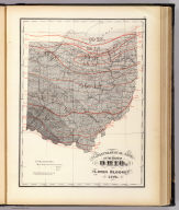 Climatological map of the State of Ohio. By Lorin Blodget, 1872. (Published by Stedman, Brown & Lyon, Cincinnati. 1872. Entered ... 1872, by H.F. Walling, and O.W. Gray, and H.H. Lloyd & Co. ... Washington)