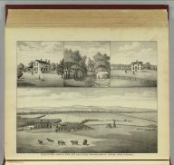 Buckeye Farm - owned by John Lind, and situated two miles north of Safford, Chase Co., Kansas. (L.H. Everts & Co., publishers, Philadelphia, 1887)