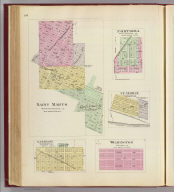 Saint Marys ... (with) Fostoria ... (with) St. George ... (with) Garrison ... (all) Pottawatomie Co. (with) Wilmington, Wabaunsee Co. (L.H. Everts & Co., publishers, Phila., Pa., 1887)