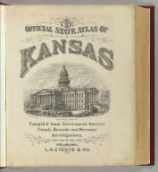 Title Page: Official state atlas of Kansas.