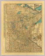 Rand McNally auto road map Minnesota ... Copyright by Rand McNally & Co. Chicago, Ill. Made In U.S.A.