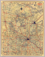 Rand McNally standard map of Minnesota ... Copyright by Rand McNally & Company, Chicago ...