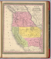 Map of the state of California, the territories of Oregon & Utah, and the chief part of New Mexico. Entered according to Act of Congress in the year 1851 by Thomas, Cowperthwait & Co. in the ... District Court of the eastern district of Pennsylvania.