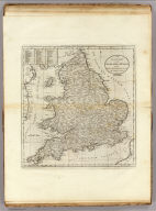 An Accurate Map Of England and Wales With The Principal Roads from the best Authorities. Doolittle Sc. New Haven. Engraved for Carey's American Edition of Guthrie's Geography improved.