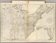 A Map of the United States: compiled chiefly from The State Maps, and other Authentic Information, by Saml. Lewis 1795. (with) inset map of Florida. W. Harrison Junr. Sculpt. Engraved for and sold by Matthew Carey Philadelphia.