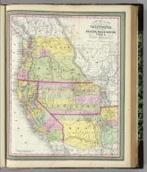 A new map of the state of California, the territories of Oregon, Washington, Utah and New Mexico. Published by Charles Desilver, no. 253 Market Street, Philadelphia. Entered according to Act of Congress in the year 1850 by Thomas, Cowperthwait & Co. in the ... District Court of the eastern district of Pennsylvania. (1855)