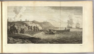 [Captain John Byron and landing party in the Strait of Magellan. London: printed for W. Strahan, and T. Cadell in the Strand, MDCCLXXIII). No. 23.