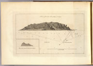 A view of the N.W. side of Mas-a-fuera. Wallis's Islands. (London: printed for W. Strahan, and T. Cadell in the Strand, MDCCLXXIII).