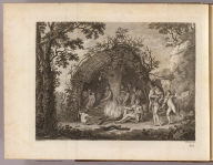 (A view of the Indians of Terra del Fuego in their hut). G.B. Cipriani del. F. Bartolozzi sculp. No. 1. (London: printed for W. Strahan, and T. Cadell in the Strand, MDCCLXXIII)
