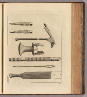 (Native implements, Otaheite). Record sculp. No. 9. (London: printed for W. Strahan, and T. Cadell in the Strand, MDCCLXXIII).