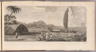 (A view of the island of Ulietea, with a double canoe and a boathouse). E. Rooker sculp. No. 3. (London: printed for W. Strahan, and T. Cadell in the Strand, MDCCLXXIII).