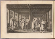(A view of the inside of a house in the island of Ulietea, with the representation of a dance to the music of the country). I.B. Cipriani del. F. Bartolozzi sculp. No. 7. (London: printed for W. Strahan, and T. Cadell in the Strand, MDCCLXXIII).