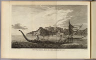 Resolution Bay in the Marquesas. Drawn from nature by W. Hodges. Engrav'd by B.T.Pouncy. No. XXXIII. Published Febry. 1st, 1777 by Wm. Strahan in New Street, Shoe Lane & Thos. Cadell in the Strand, London.
