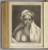 Woman of Sta. Christina. (Drawn from) nature by W. Hodges. Engrav'd by J. Hall. No. 37. (Published Feby. 1st., 1777 by Wm. Strahan in New Street, Shoe Lane & Thos. Cadell in the Strand, London)