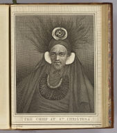 The Chief at Sta. Christina. Drawn from nature by W. Hodges. Engrav'd b(y J. Hall. No. 36. Published Feby. 1st., 1777 by Wm. Strahan in New Street, Shoe Lane & Thos. Cadell in the Strand, London)
