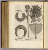 (Weapons, &c. at Mallicollo and Tanna). Chapman, del. Record sculp. No. XVII. Published Febry. 1st, 1772 by Wm. Strahan in New Street, Shoe Lane & Thos. Cadell in the Strand, London.