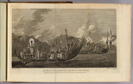 The fleet of Otaheite assembled at Oparee. Painted by W. Hodges. Engraved by W. Woolett. No. LXI. Published Feby. 1st, 1777 by Wm. Strahan, New Street, Shoe Lane, & Thos. Cadell, in the Strand, London.