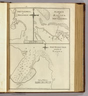 Port Resolution in the Isle of Tanna. (with) Port Sandwich in Mallicollo. (with) Harbour of Balade in New Caledonia. No. XI. Published Febry. 1st, 1772 by Wm. Strahan in New Street, Shoe Lane & Thos. Cadell in the Strand, London.