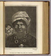 Woman of the island of Tanna. Drawn from nature by W. Hodges. Engrav'd by J. Basire. No. XLV. (Published Febry. 1st, 1777 by Wm. Strahan in New Street, Shoe Lane & Thos. Cadell in the Strand, London)