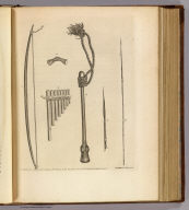 (Weapons, &c. at Mallicollo and Tanna). Chas. Chapman del. Jas. Roberts sculp. No. XVIII. Published Febry. 1st, 1777 by Wm. Strahan in New Street, Shoe Lane & Thos. Cadell in the Strand, London.