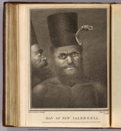 Man of New Caledonia. Drawn from nature by W. Hodges. Engrav' by (Francois Germain?) Aliamet. No. XXXIX. Published Feby. 1st, 1772 by Wm. Strahan in New Street, Shoe Lane & Thos Cadell in the Strand, London.