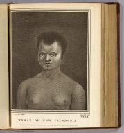 Woman of New Caledonia. Drawn from nature by W. Hodges. Engrav'd by J. Hall. No. XLVIII. Published Feby. 1st, 1777 by Wm. Strahan in New Street, Shoe Lane & Thos. Cadell in the Strand, London.