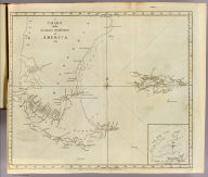 A chart of the southern extremity of America 1775. (with) Part of Staten Land. No. II. Published Febry. 1st, 1777 by Wm. Strahan in New Street, Shoe Lane & Thos. Cadell in the Strand, London.