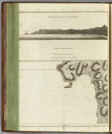 Plan of Adventure Bay in Van Diemens Land. (with) View of the south side of Adventure Bay. (Copied by Lieut. Henry Roberts. London, G. Nicol and T. Cadell, 1785)