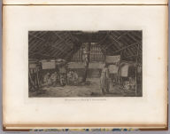 The inside of a house, in Oonalashka. J. Webber del. W. Sharp sculp. (London, G. Nicol and T. Cadell, 1785)