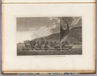 A canoe of the Sandwich Islands, the rowers masked. J. Webber del. C. Grignion sc. (London, G. Nicol and T. Cadell, 1785)