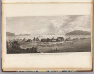 A view of the town and harbour of St. Peter and St. Paul, in Kamtschatka. J. Webber del. B.T. Pouncy sc. (London, G. Nicol and T. Cadell, 1785)