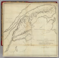 Sketch from Bouchette's maps of Upper & Lower Canada and the District of Gaspe. Exhibiting the true range of highlands dividing the waters of the St. Lawrence & the Atlantic, and the imaginary ranges claimed by the British for the boundary of the State of Main. (By Moses Greenleaf). W. Chapin Sc. N. York. Portland, published by Shirley & Hyde, 1829.