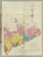 Map exhibiting the principal original grants & sales of lands in the State of Maine. By Moses Greenleaf. Engraved by Wm. Chapin, N.Y. for Greenleaf's Survey of Maine. Published by Shirley & Hyde, Portland, 1829.