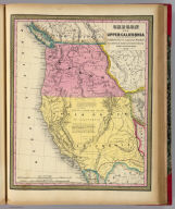 Oregon and Upper California. Published by S. Augustus Mitchell, N.E. corner of Market & Seventh Streets. Philadelphia. 1848. Entered according to Act of Congress in the year 1845 by H.N. Burroughs in the ... District Court of the eastern district of Pennsylvania.