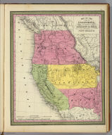 Map of the state of California, the territories of Oregon & Utah, and the chief part of New Mexico. Entered according to Act of Congress in the year 1845 by H.N. Burroughs in the ... District Court of the eastern district of Pennsylvania. (1850)