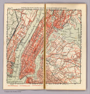Section 1. Showing the vicinity of New York City as far northward as High Bridge. (1902)