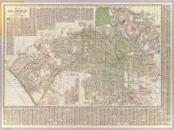 Map of Los Angeles, California. Copyright, by E.F. Hill. (inset map) City of Inglewood.
