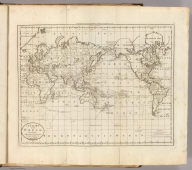 A Chart of the World, According to Mercators Projection, Shewing the latest Discoveries of Capt. Cook. William Barker sculp. Engraved for Carey's American Edition of Guthrie's Geography improved.