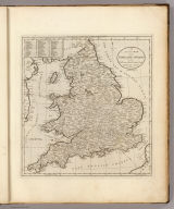 An Accurate Map of England and Wales With The Principal Roads from the best Authorities. Doolittle Sc. Newhaven. Engraved for Carey's American Edition of Guthrie's Geography improved.