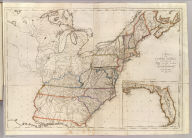 A Map of the United States: compiled chiefly from The State Maps, and other Authentic Information, by Saml. Lewis 1809. (with) inset map of Florida. Harrison, Junr. Sculpt. Engraved for and sold by Matthew Carey Philadelphia.