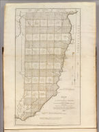 Plat of The Seven Ranges of Townships being Part of the Territory of the United States N.W. of the River Ohio Which by a late act of Congress are directed to be sold. W. Barker sculp. Surveyed in conformity to an Ordinance of Congress of May 20th 1785. Under direction of Thos. Hutchins late Geographer to the United States. Published by Matthew Carey No. 118 Market Street Philada. Copy right secured.