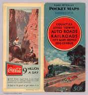(Covers to) Rand McNally auto road map Minnesota ... Copyright by Rand McNally & Co. Chicago, Ill. Made In U.S.A.