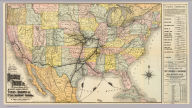 Map of the South West Railway System. Missouri Pacific Ry., central branch U.P. R.R., Missouri, Kansas & Texas Ry. Texas and Pacific Ry., St. Louis, Iron Mountn. and Southern Ry., International and Great Northern R.R., St. Louis, Ft. Scott & Wichita R.R. and their connections. Copyright, 1886, by Rand, McNally & Co., Map Publishers, Chicago ...