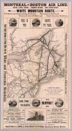 Map of the Montreal and Boston Air Line, Passumpsic, and South Eastern Railroads, and connections. Rand, Avery & Co., Eng's., Boston ... (inset) Map of Lake Memphremagog, Newport, Vt. Junction of Passumpsic and So. Eastern R.Rs.
