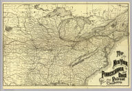 Map of the New York, Pennsylvania and Ohio Railroad and connections. Poole Bros., Map Engravers, Chicago. (1887)